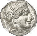 Ancients:Greek, ATTICA. Athens. Ca. 440-404 BC. AR tetradrachm (24mm, 17.2...