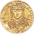 Ancients: Irene, sole reign (AD 797-802). AV solidus (19mm, 7h). ANACS EF 40, cleaned