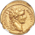 Ancients:Roman Imperial, Ancients: Tiberius (AD 14-37). AV aureus (19mm, 7.74 gm, 10h). NGC Choice XF 4/5 - 3/5, brushed....