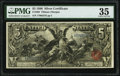 Large Size:Silver Certificates, Fr. 268 $5 1896 Silver Certificate PMG Choice Very Fine 35.. ...