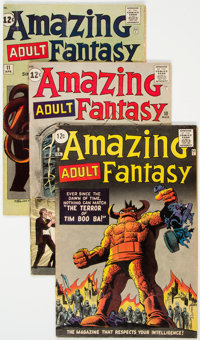 Amazing Adult Fantasy #9-11 Group (Marvel, 1962) Condition: Average VG.... (Total: 3 Comic Books)