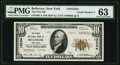 Bellerose, NY - $10 1929 Ty. 2 The First National Bank Ch. # 13234 PMG Choice Uncirculated 63