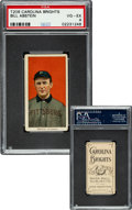 Baseball Cards:Singles (Pre-1930), 1909-11 T206 Carolina Brights Bill Abstein PSA VG-EX 4 - Pop Two, None Higher for Brand. ...