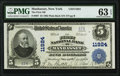 Manhasset, NY - $5 1902 Plain Back Fr. 607 The First National Bank Ch. # 11924 PMG Choice Uncirculated