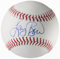 Autographs:Baseballs, Larry Bird Single Signed Baseball, PSA/DNA Mint+ 9.5....