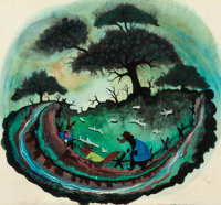 Mary Blair Song of the South Original Concept Painting (Walt Disney, 1946)