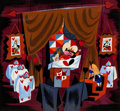 Animation Art:Concept Art, Mary Blair Alice in Wonderland Queen of Hearts Court Concept Painting (Walt Disney, 1951)....