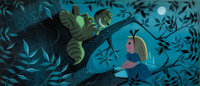 Mary Blair Alice in Wonderland Original Concept Painting (Walt Disney, 1951)