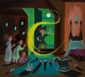 Animation Art:Concept Art, Mary Blair Peter Pan Original Concept Painting (Walt Disney, 1953). ...