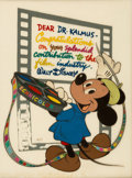 """Animation Art:Presentation Cel, """"Mickey Mouse and Technicolor"""" Special Gift Cel (Walt Disn..."""