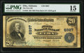 National Bank Notes:Alabama, Elba, AL - $20 1902 Plain Back Fr. 650 The First National Bank Ch. # 6897 PMG Choice Fine 15.. ...