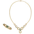 Estate Jewelry:Suites, Diamond, Emerald, Gold Jewelry Suite. ... (Total: 2 Items)