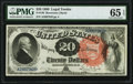 Large Size:Legal Tender Notes, Fr. 136 $20 1880 Legal Tender PMG Gem Uncirculated 65 EPQ.. ...