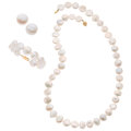 Estate Jewelry:Suites, Freshwater Pearl, Gold Jewelry Suite. ... (Total: 0 Items)