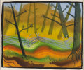 Animation Art:Concept Art, Mary Blair Song of the South Plein Air Concept Painting (Walt Disney, 1946)....
