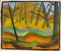 Mary Blair Song of the South Plein Air Concept Painting (Walt Disney, 1946)