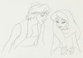 Animation Art:Production Drawing, Aladdin Jasmine and Aladdin Animatio...