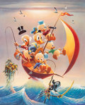 Memorabilia:Disney, Carl Barks Sailing the Spanish Main Signed Limited Edition Lithograph Print #83/245 (Another Rainbow, 1982)....