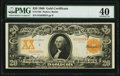 Large Size:Gold Certificates, Fr. 1185 $20 1906 Gold Certificate PMG Extremely Fine 40.. ...