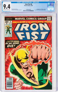 Iron Fist #8 (Marvel, 1976) CGC NM 9.4 Off-white to white pages