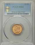 1878 $2 1/2 MS64 PCGS Secure. PCGS Population: (190/65 and 17/5+). NGC Census: (134/38 and 5/3+). CDN: $650 Whsle. Bid f...