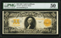 Large Size:Gold Certificates, Fr. 1187 $20 1922 Gold Certificate PMG About Uncirculated 50.. ...