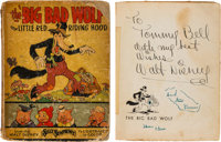 The Big Bad Wolf Story Book with Walt Disney Signature (Walt Disney/Blue Ribbon Books, 1934)