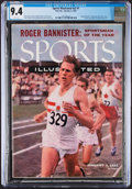 Olympic Collectibles:Autographs, 1955 Rogers Bannister (1st Sportsman of the Year) Sports Illustrated, CGC 9.4 - Pop One with None Higher!...
