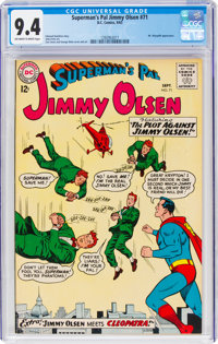 Superman's Pal Jimmy Olsen #71 (DC, 1963) CGC NM 9.4 Off-white to white pages