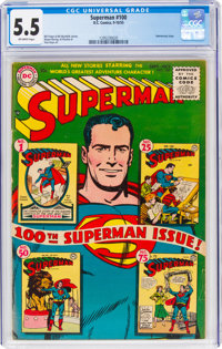 Superman #100 (DC, 1955) CGC FN- 5.5 Off-white pages