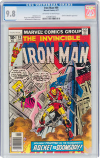 Iron Man #99 (Marvel, 1977) CGC NM/MT 9.8 Off-white to white pages