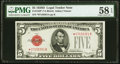 Small Size:Legal Tender Notes, Fr. 1529* $5 1928D Legal Tender Note. PMG Choice About Unc 58 EPQ.. ...