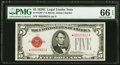 Small Size:Legal Tender Notes, Fr. 1530* $5 1928E Legal Tender Note. PMG Gem Uncirculated 66 EPQ.. ...