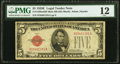 Fr. 1530 $5 1928E Mule Legal Tender Note with Back Plate 629. PMG Fine 12