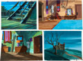 Animation Art:Painted cel background, Scooby-Doo and Yogi's Great Escape Painted Production Background Group of 17 (Hanna-Barbera, 1969-87).... (Total: 17 Original Art)