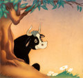 Animation Art:Production Cel, Ferdinand the Bull Production Cel Courvoisier Setup (Walt Disney, 1938). ...