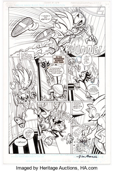 Steve Butler And Jim Amash Sonic The Hedgehog 149 Story Page 4 Lot 17034 Heritage Auctions