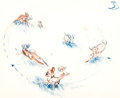 Animation Art:Production Drawing, Bambi Layout/Concept Drawing by Marc Davis (Walt Disney, 1942)....