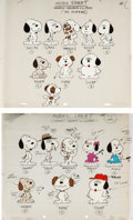 Animation Art:Color Model, Peanuts Snoopy's Reunion Color Model Cels Group of 2 (Bill Melendez, 1991).... (Total: 2 Items)