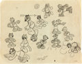 Animation Art:Model Sheet, Alice Comedies Character Model Sheet (Walt Disney, c. 1920s). ...