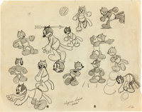 Alice Comedies Character Model Sheet (Walt Disney, c. 1920s)