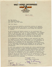 Letter to Roy Disney from Kay Kamen (Walt Disney, 1934)