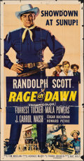 Movie Posters:Western, Rage at Dawn (RKO, 1955). Folded, Very Good/Fine. ...