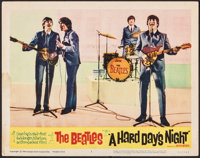 "A Hard Day's Night (United Artists, 1964). Fine/Very Fine. Lobby Card (11"" X 14""). Rock and Roll"