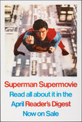 """Movie Posters:Action, Superman the Movie (Warner Bros., 1978). Folded, Very Fine+. Reader's Digest Poster (27"""" X 40""""). Action.. ..."""