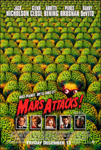 "Mars Attacks! (Warner Bros., 1996). Rolled, Near Mint. One Sheet (27"" X 40"") DS Advance, Page Wood Artwork. Sc..."