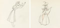 Animation Art:Production Drawing, Sleeping Beauty Briar Rose and Mock ...
