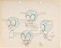 Animation Art:Model Sheet, Falling Hare Original Model Sheet Drawing (Warner Brothers, 1943). ...