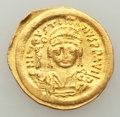 Ancients:Byzantine, Ancients: Justin II (AD 565-578). AV solidus (21mm, 4.48 gm, 6h). XF, edge bump....