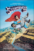 "Movie Posters:Action, Superman III & Other Lot (Warner Bros., 1983). Rolled, Overall: Very Fine+. One Sheets (2) (27"" X 41"" & 27"" X 40.5""). Larry ... (Total: 2 Items)"
